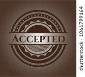 accepted wood emblem. vintage. | Shutterstock .eps vector #1061799164