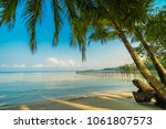 beautiful paradise island with... | Shutterstock . vector #1061807573