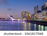 puerto madero and the puente de ...   Shutterstock . vector #1061817068