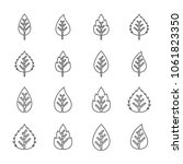 leaf icons set. vector... | Shutterstock .eps vector #1061823350
