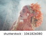 young beautiful girl elf on a... | Shutterstock . vector #1061826080