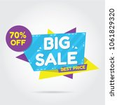 big sale for sale banners ... | Shutterstock .eps vector #1061829320