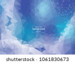 abstract polygonal space blue... | Shutterstock .eps vector #1061830673