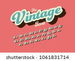 Vector of stylized vintage font and alphabet | Shutterstock vector #1061831714