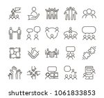 vector thin line icon... | Shutterstock .eps vector #1061833853