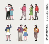 campus life characters. vector... | Shutterstock .eps vector #1061834003