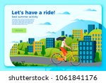 Vector Bright Bicycle Ride...