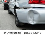 backside of silver car get... | Shutterstock . vector #1061842349