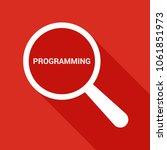 programming concept  magnifying ...   Shutterstock .eps vector #1061851973