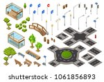 city traffic street isometric... | Shutterstock .eps vector #1061856893