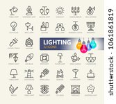lights web icon set   minimal... | Shutterstock .eps vector #1061861819