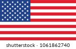 vector image of american flag | Shutterstock .eps vector #1061862740