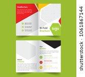 business colorful bi fold... | Shutterstock .eps vector #1061867144