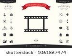 camera roll  photographic film  ... | Shutterstock .eps vector #1061867474