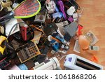 pile of used electronic and...   Shutterstock . vector #1061868206