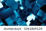 3d render technology background.... | Shutterstock . vector #1061869124
