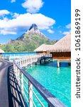 bora bora island  french... | Shutterstock . vector #1061869199