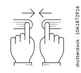 two hand pinch vector line icon ... | Shutterstock .eps vector #1061872916