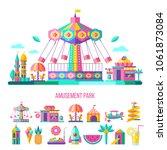 amusement park  theme park ... | Shutterstock .eps vector #1061873084