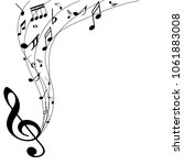 abstract music notes on line...   Shutterstock .eps vector #1061883008