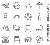 flat vector icon set   father... | Shutterstock .eps vector #1061891543