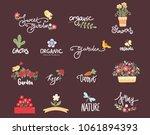 big set of organic logos   Shutterstock .eps vector #1061894393