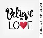 vector illustration of believe... | Shutterstock .eps vector #1061905640