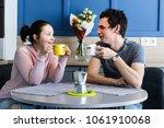 romantic couple. beautiful...   Shutterstock . vector #1061910068