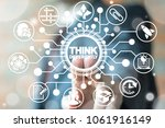 think differently. being... | Shutterstock . vector #1061916149