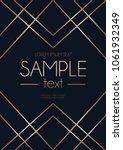 geometric rose gold design card....   Shutterstock .eps vector #1061932349