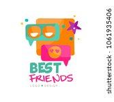 social network logo template... | Shutterstock .eps vector #1061935406