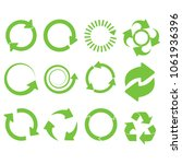 green round recycle vector... | Shutterstock .eps vector #1061936396