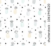 simple seamless pattern with a... | Shutterstock .eps vector #1061943620