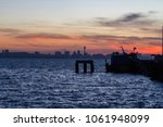 beautiful sunset in the sea for ...   Shutterstock . vector #1061948099