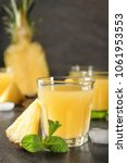 glass of sweet juice with... | Shutterstock . vector #1061953553