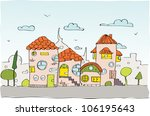 sketch city background | Shutterstock .eps vector #106195643