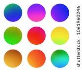 round gradient set  colorful...