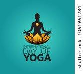 international day of yoga... | Shutterstock .eps vector #1061961284