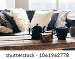 still life details of nordic... | Shutterstock . vector #1061962778