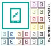 mobile pinch close gesture flat ... | Shutterstock .eps vector #1061965679