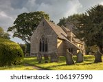 English Church With Cloudy...