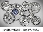 photo of tooth wheel mechanism... | Shutterstock . vector #1061976059