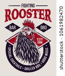 fighting rooster design. retro... | Shutterstock .eps vector #1061982470