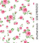 rose pattern big and small ... | Shutterstock .eps vector #1061985053