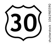 us route 30 sign  black and... | Shutterstock .eps vector #1061985590