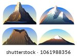 mountains peaks  landscape... | Shutterstock .eps vector #1061988356