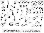 doodle hand drawn vector arrows ...
