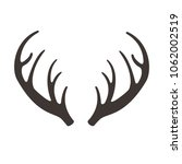 deer horns vector illusrtation. ... | Shutterstock .eps vector #1062002519