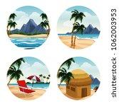 isolated islands cartoon | Shutterstock .eps vector #1062003953