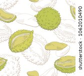 durian fruit graphic color... | Shutterstock .eps vector #1062010490